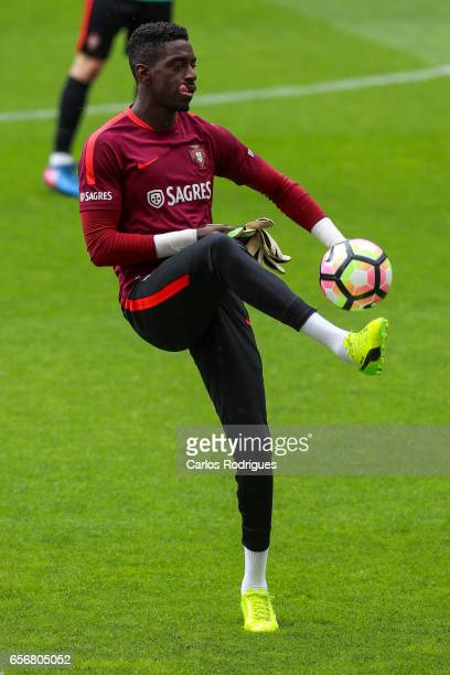 Portugal defender Bruno Varela during Portugal Training Session and Press Conference the at Cidade do Futebol on March 23 2017 in Lisbon Portugal