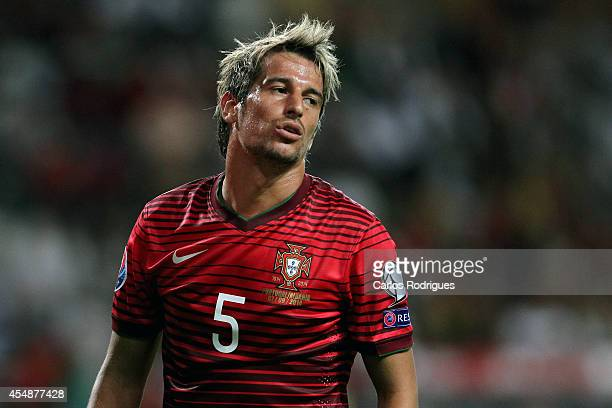 Portugal defender Fabio Coentrao during the EURO 2016 qualification match between Portugal and Albania at Estadio de Aveiro on September 7 2014 in...
