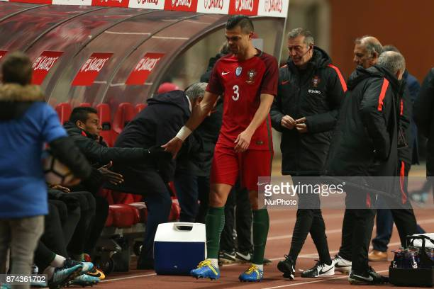 Portugal defender Pepe during the match between Portugal and United States of America International Friendly at Estadio Municipal de Leiria on...
