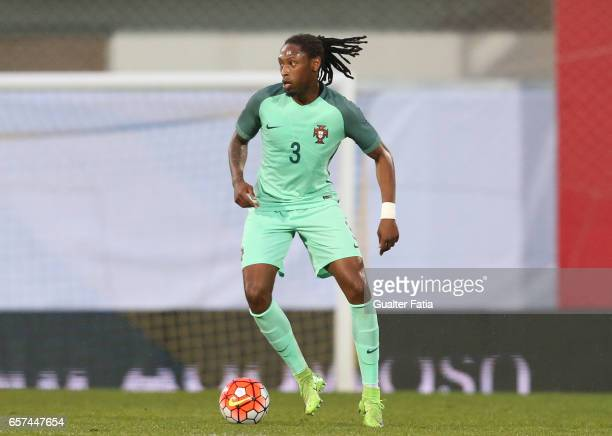Portugal defender Ruben Semedo in action during the U21 International Friendly match between Portugal and Norway at Estadio Antonio Coimbra da Mota...