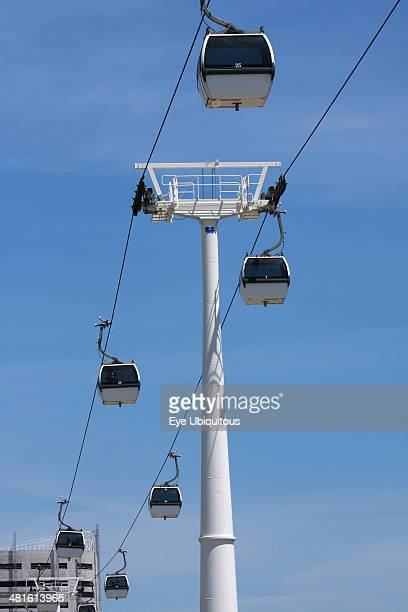 Portugal Estremadura Lisbon Cable Cars in the Park of Nations