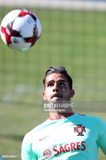 Portugal forward Andre Silva during Portugal Training Session and Press Conference the at Cidade do Futebol on June 05 2017 in Lisbon Portugal