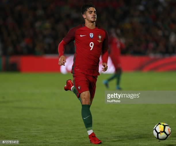 Portugal forward Andre Silva during the match between Portugal v Saudi Arabia International Friendly at Estadio do Fontelo on November 10 2017 in...