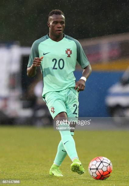 Portugal forward Bruma in action during the U21 International Friendly match between Portugal and Norway at Estadio Antonio Coimbra da Mota on March...
