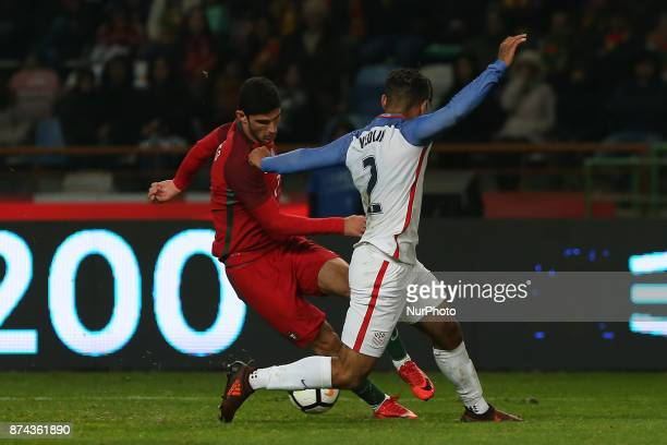 Portugal forward Goncalo Guedes and United States of America defender DeAndre Yedlin during the match between Portugal and United States of America...