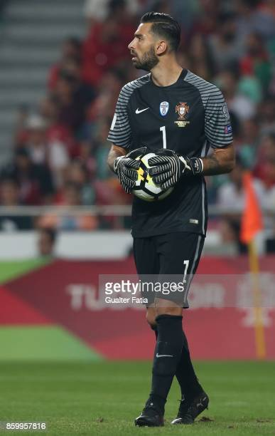 Portugal goalkeeper Rui Patricio in action during the FIFA 2018 World Cup Qualifier match between Portugal and Switzerland at Estadio da Luz on...