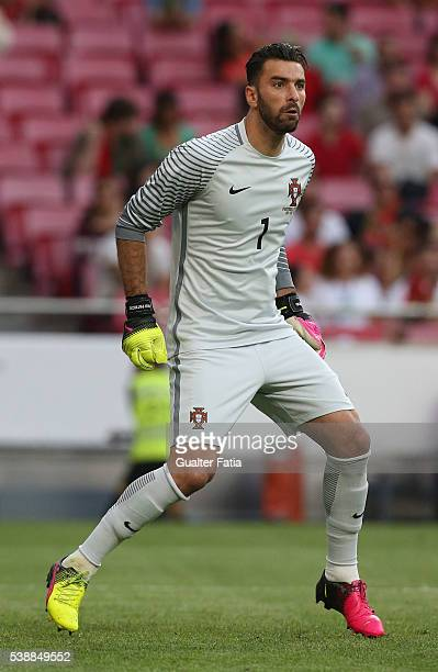 Portugal goalkeeper Rui Patricio in action during the International Friendly match between Portugal and Estonia at Estadio da Luz on June 8 2016 in...