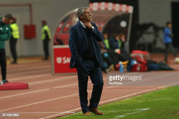 Portugal head coach Fernando Santos during the match between Portugal and United States of America International Friendly at Estadio Municipal de...