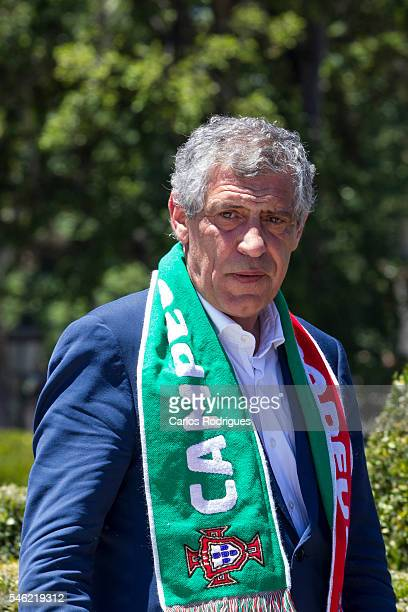 Portugal Head Coach Fernando Santos during the meeting with the countries President Marcelo Rebelo de Sousa for the Portugal Euro 2016 Victory...