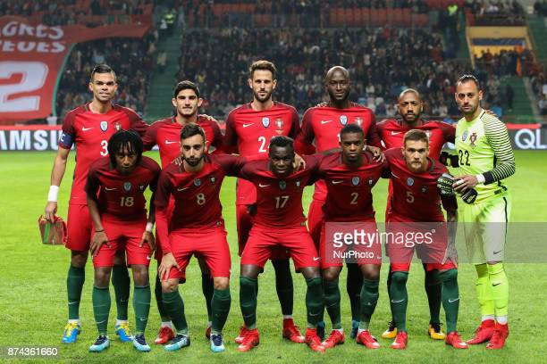 Portugal inicial team during the match between Portugal and United States of America International Friendly at Estadio Municipal de Leiria on...