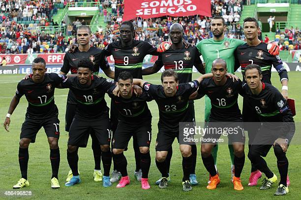 Portugal initial team during the Friendly match between Portugal and France on September 04 2015 in Lisbon Portugal