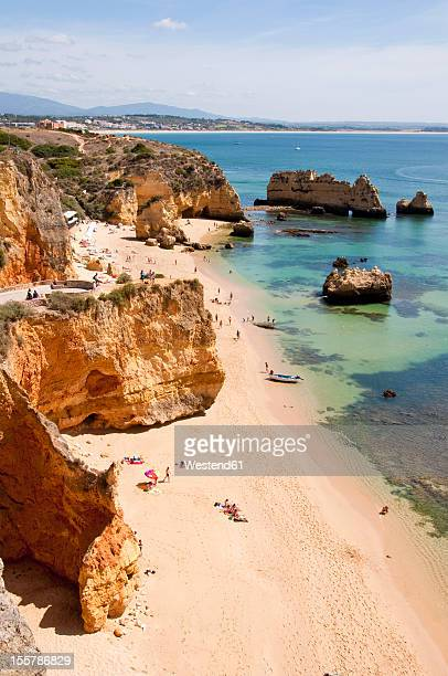 Portugal, Lagos, Tourist at Praia da Dona Ana
