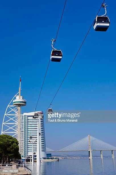 Portugal, Lisbon, cable car, Vasco da Gama's Tower