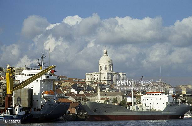 Portugal Lisbon harbor Tagus River cathedral