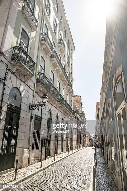 Portugal, Lisbon, street at Bairro Alto