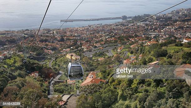 Portugal Madeira Funchal view over the town cable car