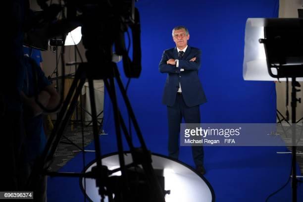 Portugal manager Fernando Santos is filmed on June 15 2017 in Kazan Russia