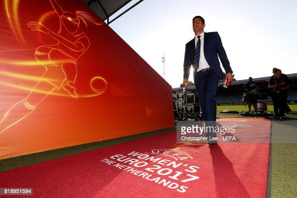 Portugal manager Francisco Neto makes his way down the tunnel after the match during the UEFA Women's Euro 2017 Group D match between Spain and...