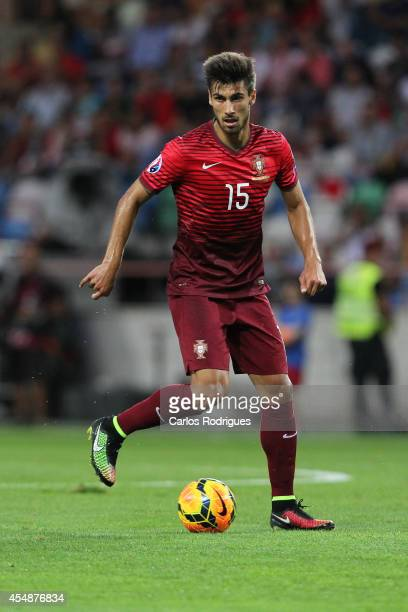 Portugal midfielder Andre Gomes during the EURO 2016 qualification match between Portugal and Albania at Estadio de Aveiro on September 7 2014 in...