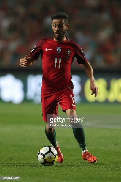 Portugal midfielder Bernardo Silva during the match between Portugal and Switzerland for FIFA 2018 World Cup Qualifier at Estadio da Luz on October...