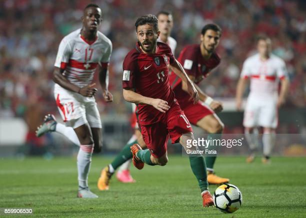 Portugal midfielder Bernardo Silva in action during the FIFA 2018 World Cup Qualifier match between Portugal and Switzerland at Estadio da Luz on...