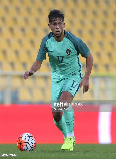 Portugal midfielder Francisco Ramos in action during the U21 International Friendly match between Portugal and Norway at Estadio Antonio Coimbra da...