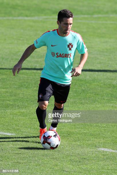 Portugal midfielder Joao Moutinho during Portugal Training Session and Press Conference the at Cidade do Futebol on October 04 2017 in Lisbon Portugal