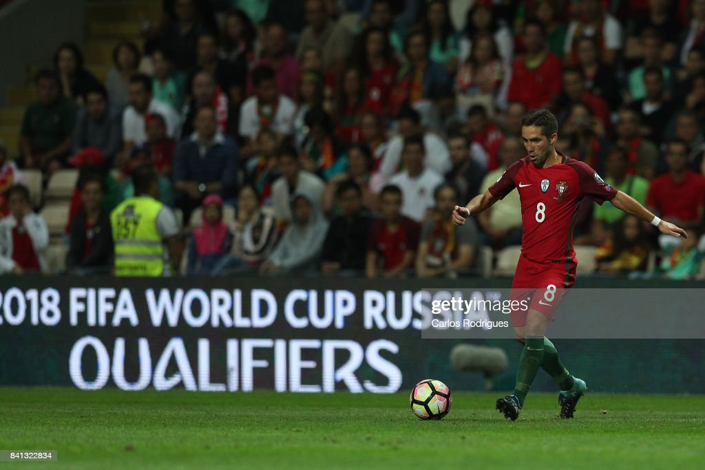 Portugal midfielder Joao Moutinho during the match between Portugal v Faroe Islands - FIFA 2018 World Cup Qualifier match at Estadio do Bessa on August 31, 2017 in Porto, Portugal.