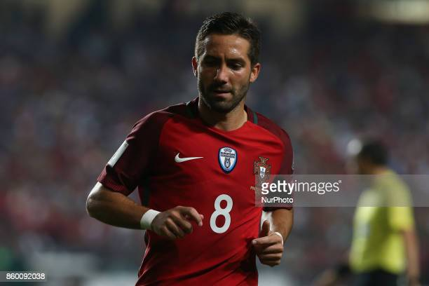 Portugal midfielder Joao Moutinho during the match between Portugal v Switzerland FIFA 2018 World Cup Qualifier match at Luz Stadium on October 10...