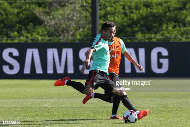 Portugal midfielder Joao Moutinho in action during National Team Training session before the match between Portugal and Andorra at City Football in...