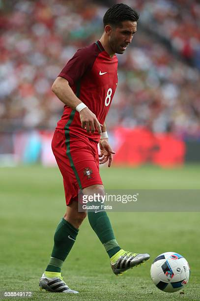 Portugal midfielder Joao Moutinho in action during the International Friendly match between Portugal and Estonia at Estadio da Luz on June 8 2016 in...