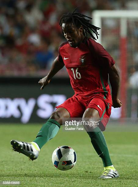Portugal midfielder Renato Sanches in action during the International Friendly match between Portugal and Estonia at Estadio da Luz on June 8 2016 in...