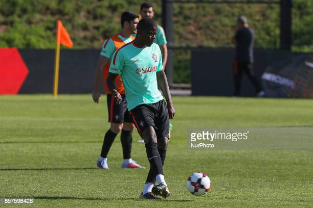 Portugal midfielder William Carvalho in action during National Team Training session before the match between Portugal and Andorra at City Football...