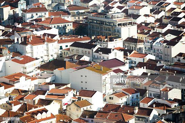 Portugal, Nazare, View to old town