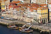 Portugal, Porto, bank of River Douro as seen from Vila Nova de Gaia