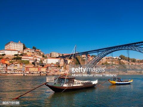 Portugal, Porto, Douro River an Luiz I Bridge
