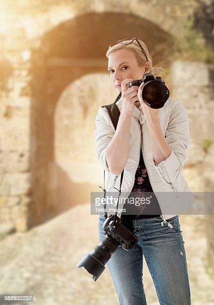 Portugal, Portrait of female photographer