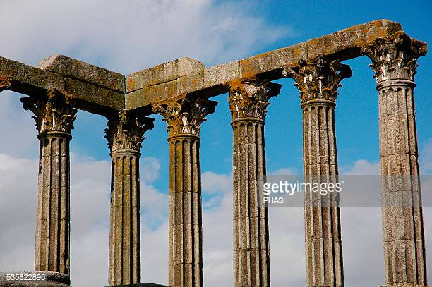 Portugal Roman Temple of Evora Improperly called Diana Temple this 1stcentury temple was probably dedicated to the Cult of Emperor Augustus...