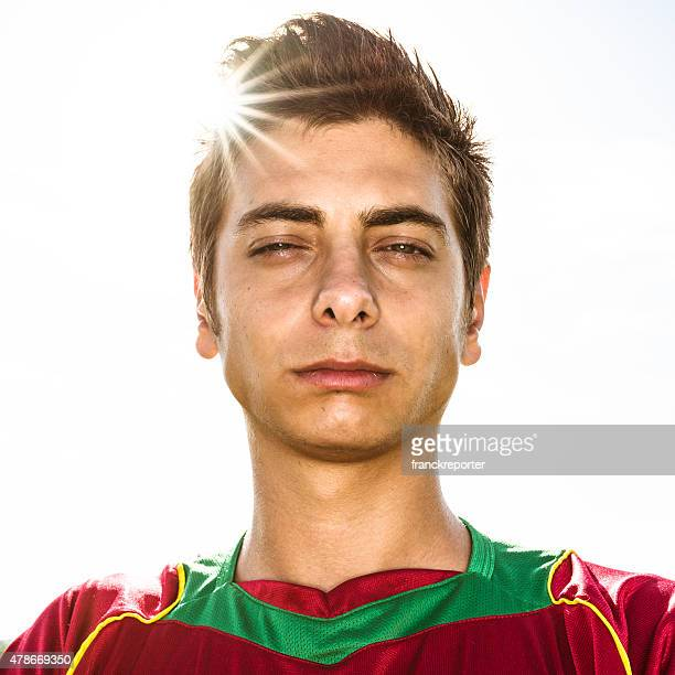 portrait de Joueur de football portugais