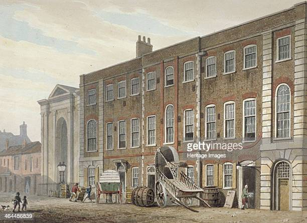 Portugal Street Westminster London 1811 South view of Lincoln's Inn Fields Theatre Portugal Street after its conversion to the Salopian China...