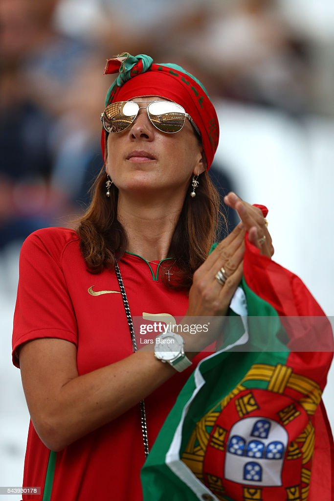 A Portugal supporter is seen prior to the UEFA EURO 2016 quarter final match between Poland and Portugal at Stade Velodrome on June 30, 2016 in Marseille, France.