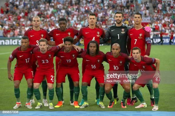 Portugal Team Line up Top Row Kleper Pepe Luis Nani Jose Fonte Pedro Rui Patricio and Cristiano Ronaldo Bottom Row Luis Nani Sebastien Adrien Silva...
