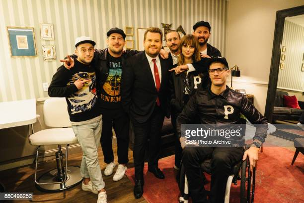 Portugal The Man chats in the green room with James Corden during 'The Late Late Show with James Corden' Monday November 20 2017 On The CBS...