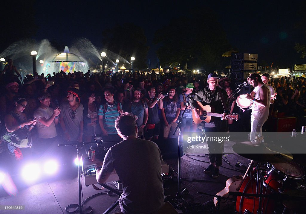Portugal. the Man performs pop up show during day 3 of the 2013 Bonnaroo Music & Arts Festival on June 15, 2013 in Manchester, Tennessee.