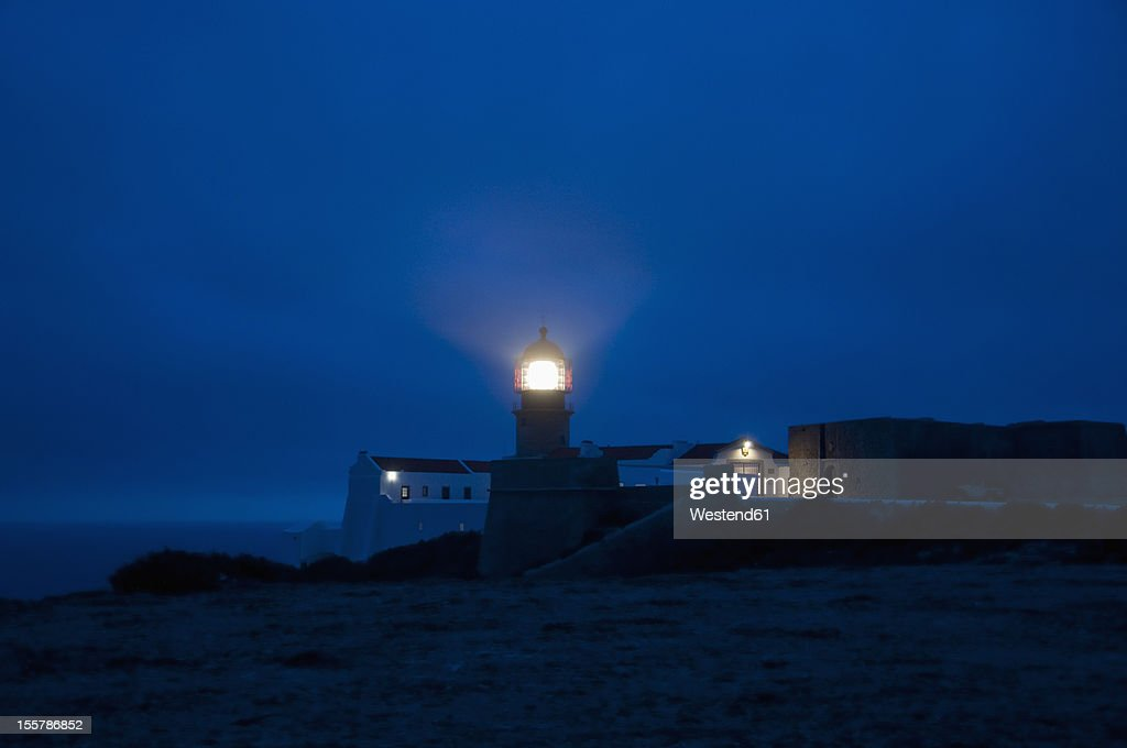 Portugal, View of lighthouse at Cabo de Sao Vicente