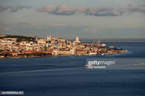 Portugal, view of Lisbon seen from river Tagus