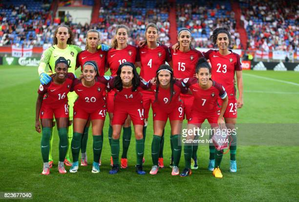 Portugal women team group during the UEFA Women's Euro 2017 match between Portugal and England at Koning Willem II Stadium on July 27 2017 in Tilburg...