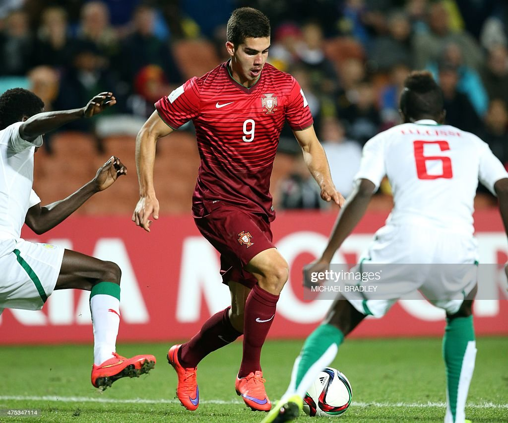 Portugal s Andre Silva C controls the ball during the FIFA Under
