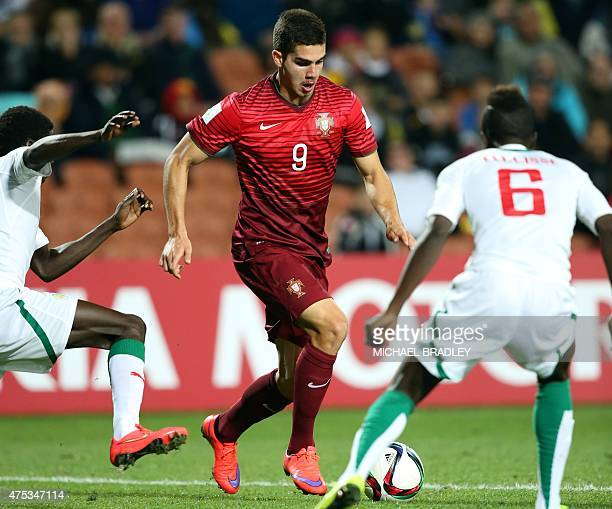 Portugal's Andre Silva controls the ball during the FIFA Under20 World Cup football match between Senegal and Portugal in Hamilton on May 31 2015 AFP...