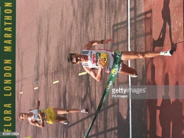 Portugal's Antonio Pinto smashed the course record as he won the London Marathon today with Italy's Stefano Baldini coming in second Pinto who also...